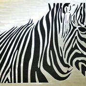 Metal art, zebra