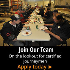 Join Our Team - On the lookout for certified journeymen - Apply Today