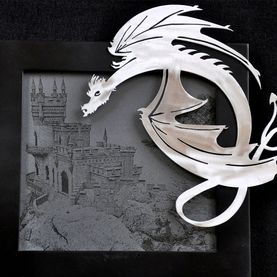 Metal art, stylized dragon