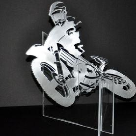 Metal art, motocyclist