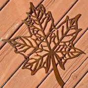 Metal art, maple leaf