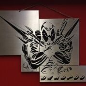 Metal art, super hero
